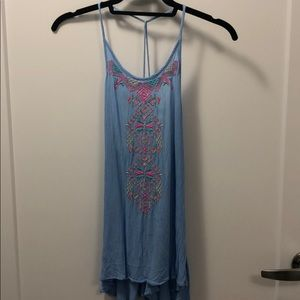 Embroidered tribal strappy tank